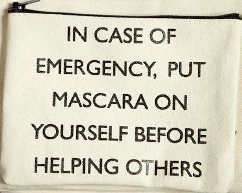Humorous Crisis Makeup Bags