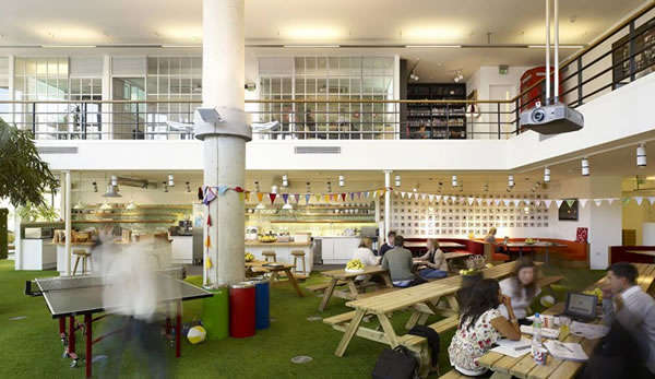 Picnic-Inspired Office Lunchrooms
