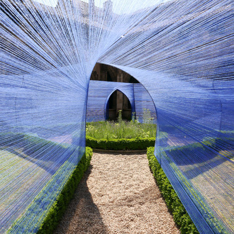 Whimsical String-Covered Walkways