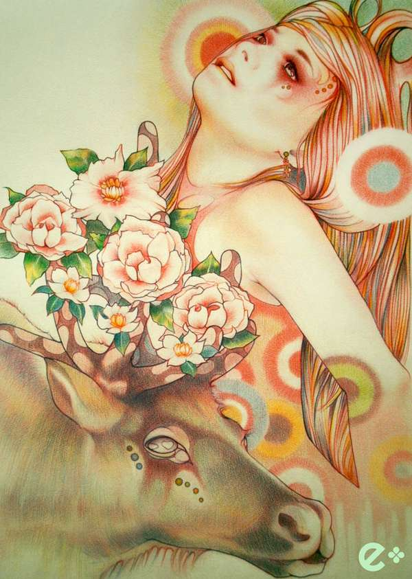 Flowery Female Illustrations