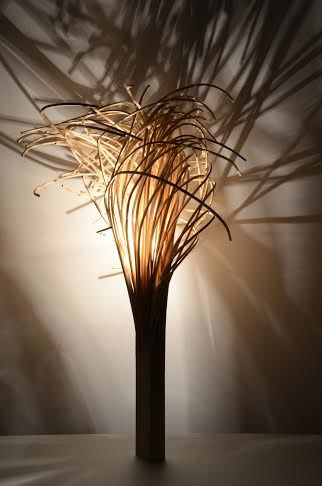 Fibrous Sculptural Lamps