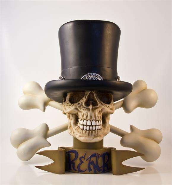 Rock Icon Skeletal Statuettes