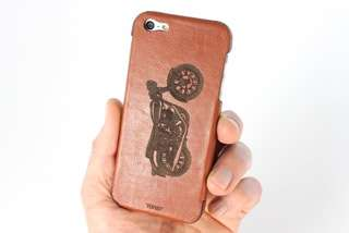 Engraved Leather Phone Case