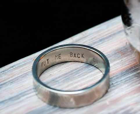 Reminder-Inscripted Wedding Rings