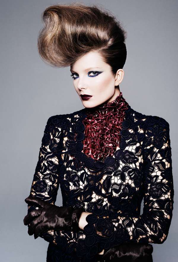 Edgy Updo Editorials