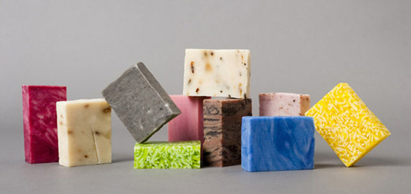 Eclectically Colored Soap Branding