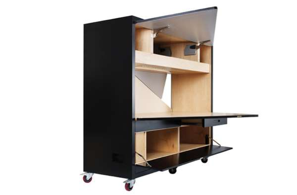 Pop-Up Productivity Cabinets