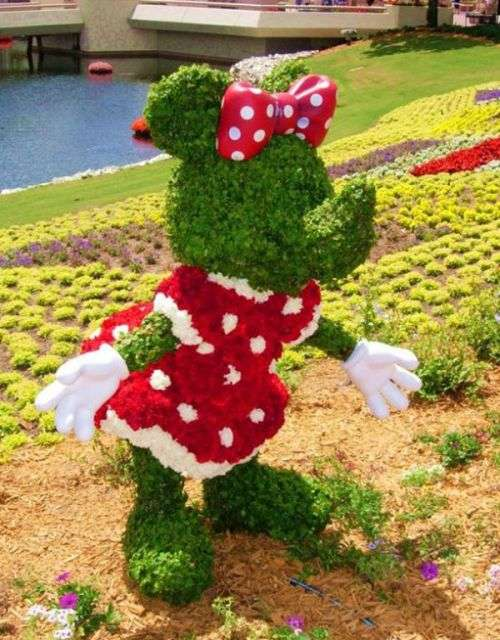 Cartoon Hedge Art EPCOT Flower Garden Festival Showcases Disney