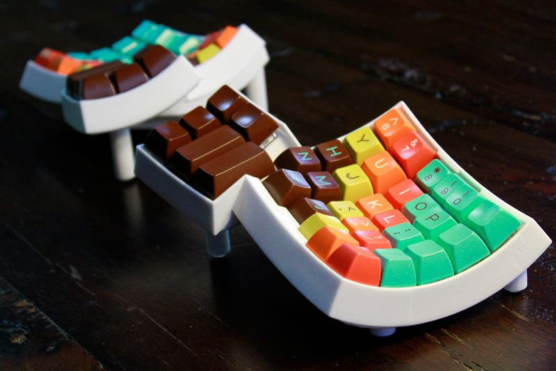 Curved 3D-Printed Keyboards