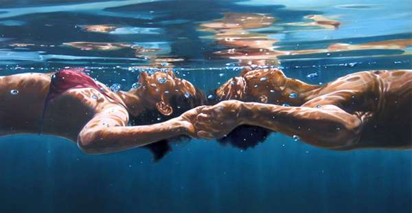 Hyper-Realistic Couple Paintings