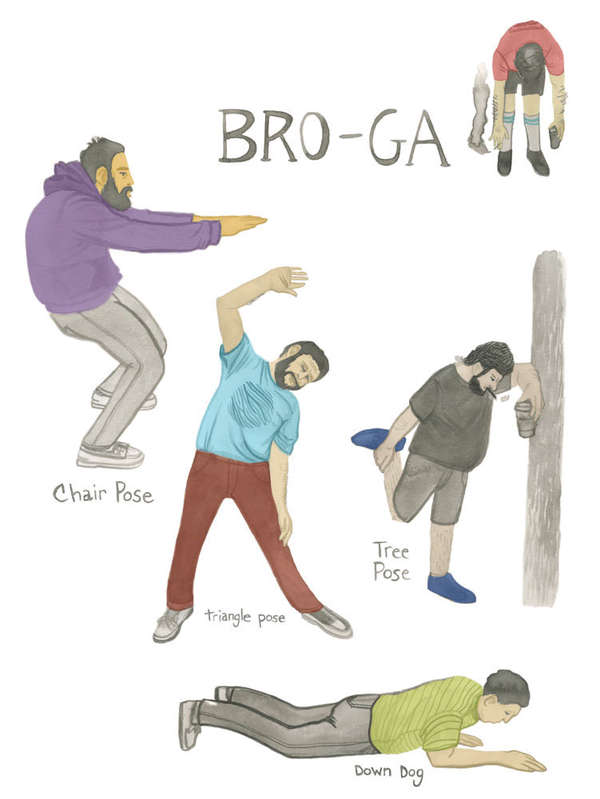 Manly Hipster Yoga