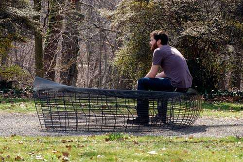 Curvy Wire Benches