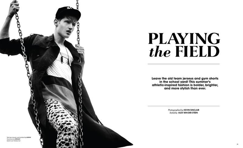 Sporty Greasy-Haired Editorials