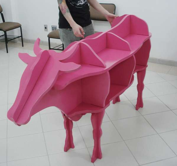 Cow-Shaped Shelves