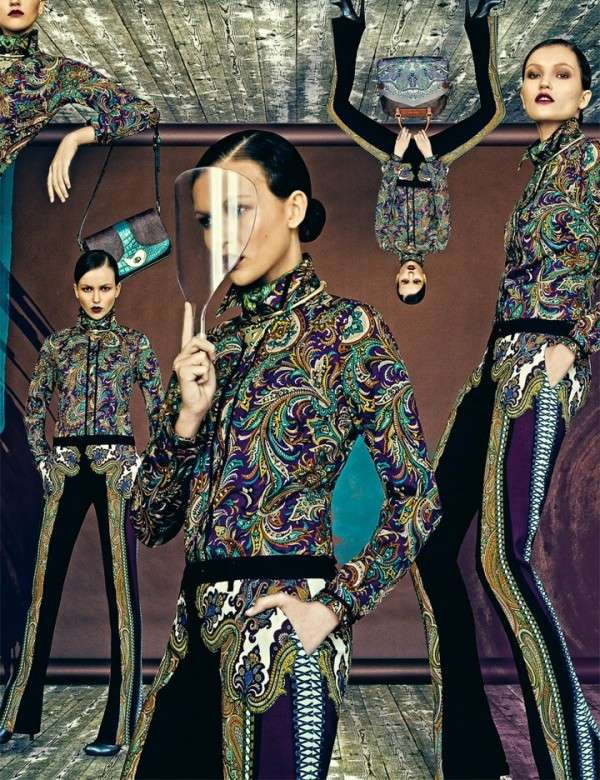 Etro for Interview Russia