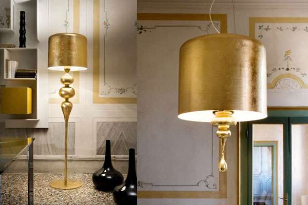 Eva gold lamp