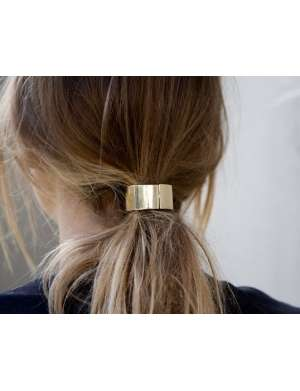eves gold plated hair cuff
