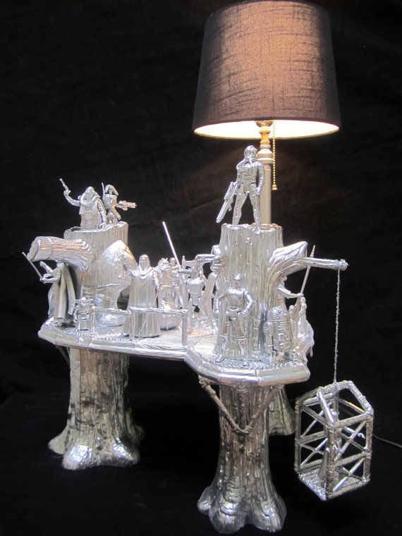 Sci Fi Figure Lights Ewok Village Lamp
