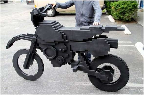 Pixelated Video Game Bikes