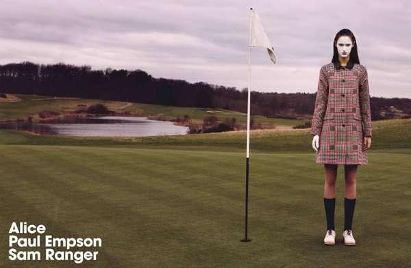 Clownish Golfer Captures