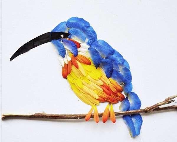 Avian Flower Petal Art
