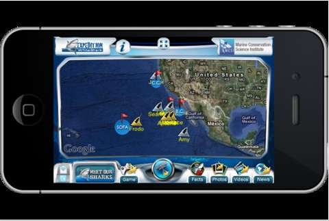 Expedition White Shark app