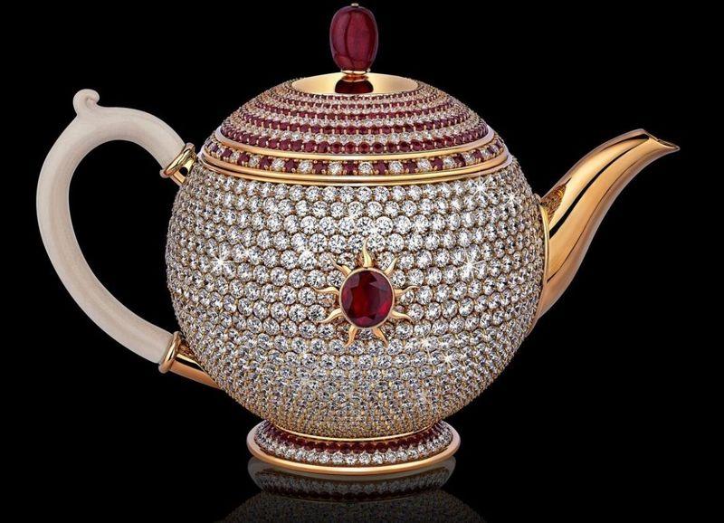 Diamond-Encrusted Teapots