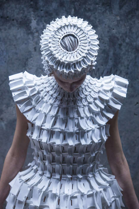 Folded Foam Fashion Looks