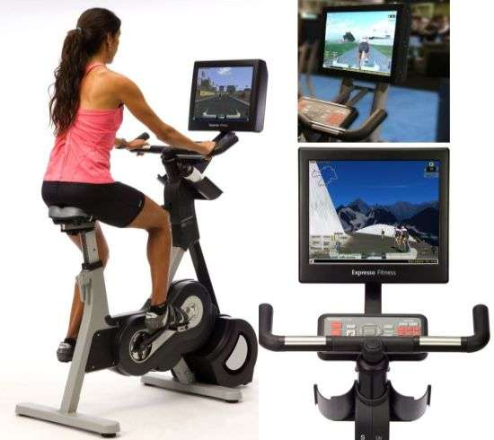 Virtual Bicycle Racing Against Real People