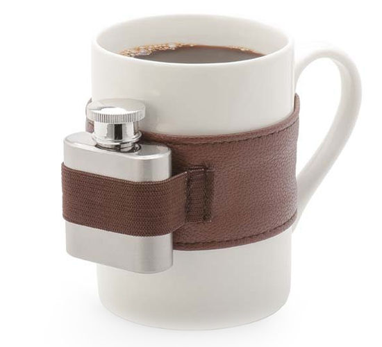 Flask-Attached Mugs