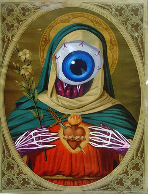 Eye-Ball Bombed Madonnas