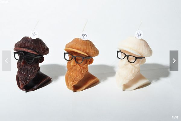 Bearded Wax Busts