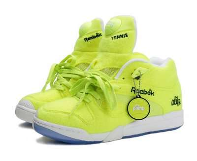 Eye Catching Yellow Reebok Pump with Alife's Signature