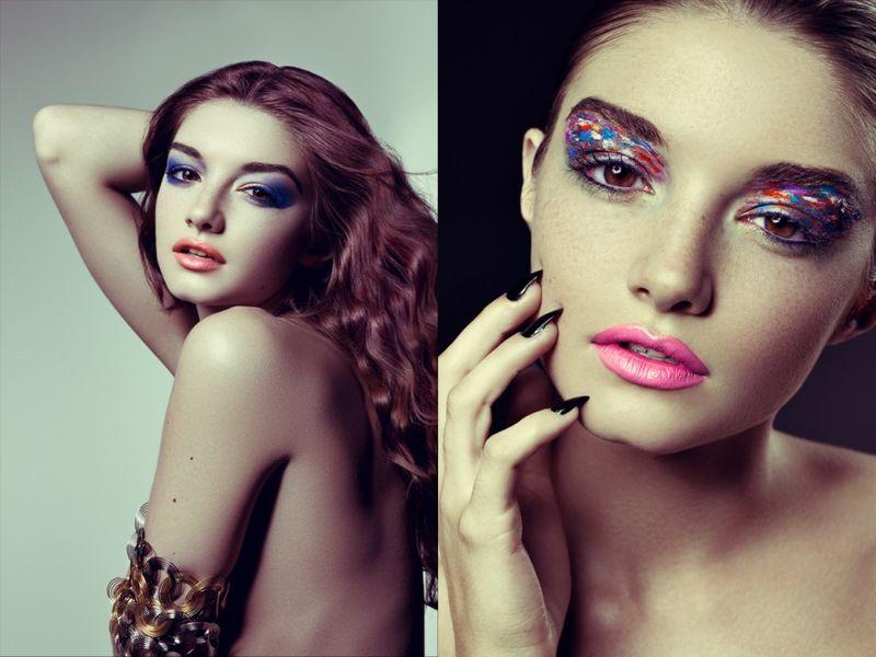 Effervescent Eyeshadow Editorials
