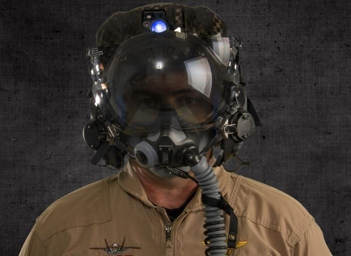 Futuristic Fighter Pilot Helmets