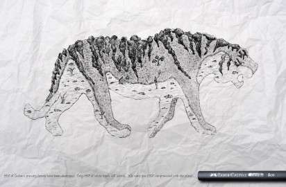 Penciled Nature Awareness Ads