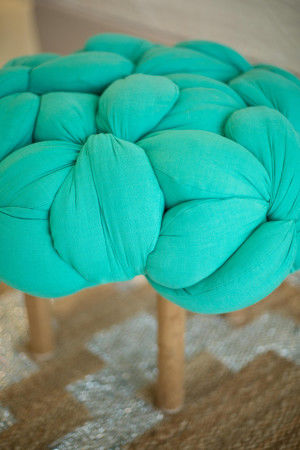 Braided Fabric Stools
