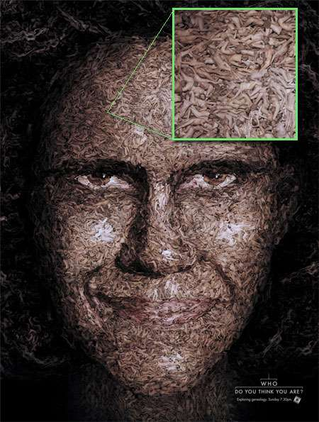 Face Made of Human Bodies