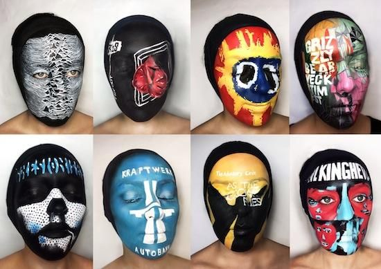 Album Cover Face Paintings