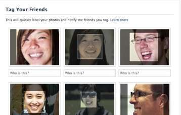 Facebook Facial Recognition app