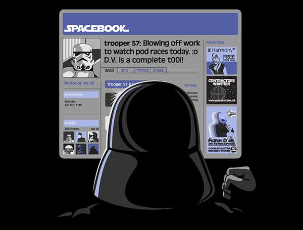 Facebook Parody Tees