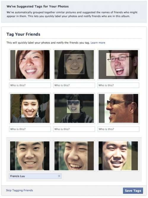 Social Media Facial Recognition