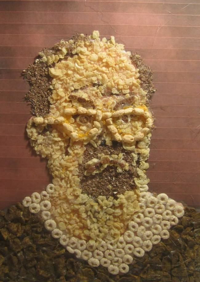 Cereal-Made Portraits
