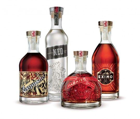 Decanter-Like Rum Branding