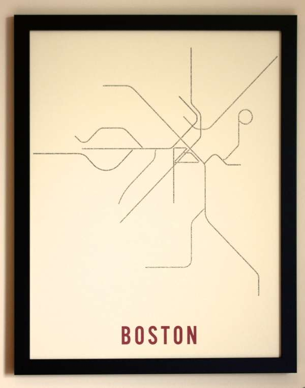 Minimalist Typographic Subway Maps