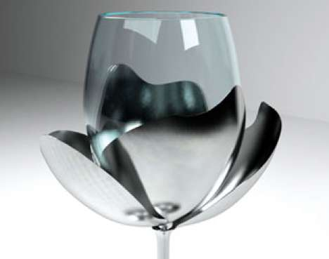 Flower-Inspired Stemware