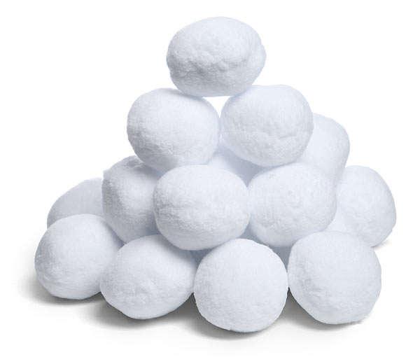 Fluffy Faux Snowballs