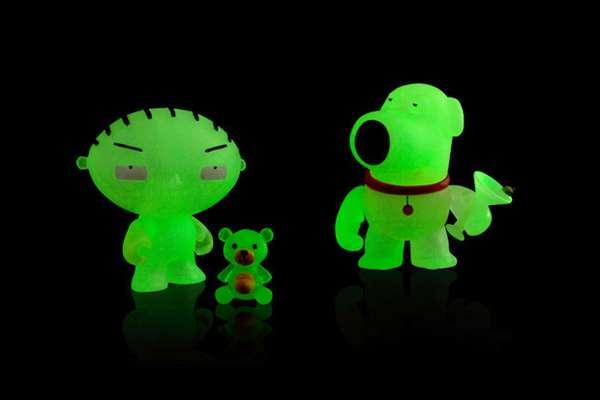 Fluorescent TV Figures