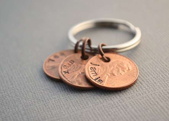 family penny keychain by thecopperfox