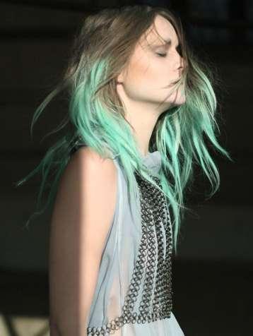 Dip-Dyed Hair